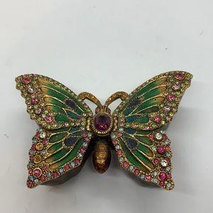 Vintage Fitz&Floyd Enameled Bejeweled Trinket Box